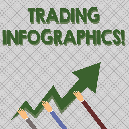7b452d4e4d65c Conceptual hand writing showing Trading Infographics. Concept meaning  visual representation of trade information or data