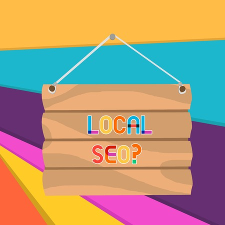 Word writing text Local Seo question. Business photo showcasing incredibly effective way to market your local business online Stockfoto