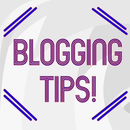 Word writing text Blogging Tips. Business photo showcasing Ideas on how improve the discussion or informational website Abstract photo of Gray Circular Spiky Edge Blade Teeth for Industrial