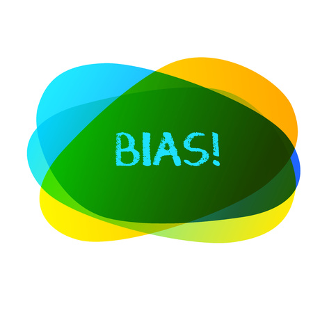 Conceptual hand writing showing Bias. Concept meaning inclination or prejudice for or against one demonstrating group