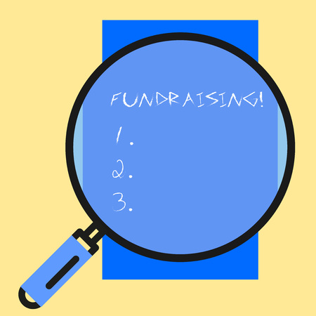 Conceptual hand writing showing Fundraising. Concept meaning seeking to generate financial support for charity or cause Banco de Imagens