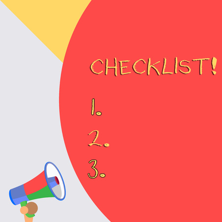 Word writing text Checklist. Business photo showcasing list items required things be done or points considered Imagens