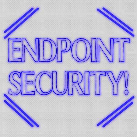 Word writing text Endpoint Security. Business photo showcasing the methodology of protecting the corporate network Seamless Endless Infinite Tiny Gray Dots Points Pattern Filling Up the Space Stockfoto