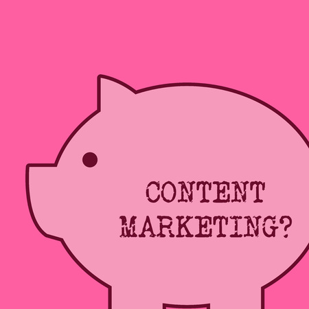Text sign showing Content Marketing question. Business photo text involves creation and sharing of online material
