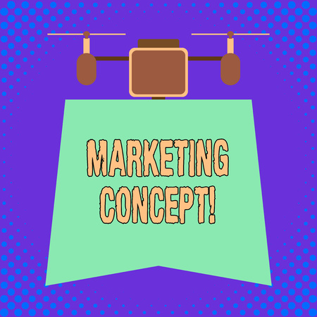Conceptual hand writing showing Marketing Concept. Concept meaning the strategy that firms adopt to satisfy customers