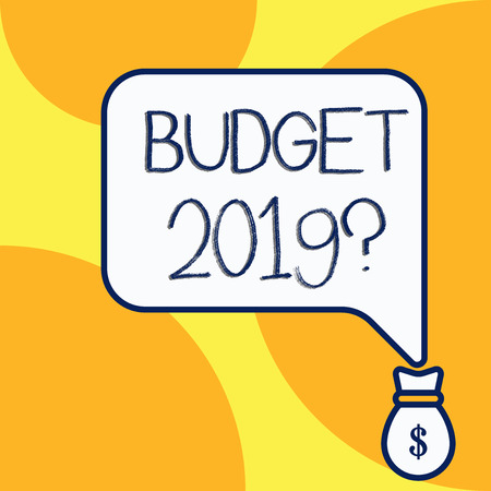 Handwriting text writing Budget 2019 Question. Conceptual photo estimate of income and expenditure for next year Stok Fotoğraf