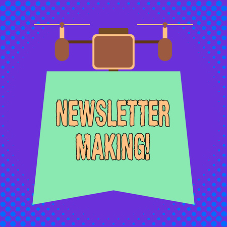 Conceptual hand writing showing Newsletter Making. Concept meaning printed report containing news or activities of a business
