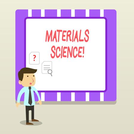 Handwriting text Materials Science. Conceptual photo interdisciplinary field involving the properties of matter