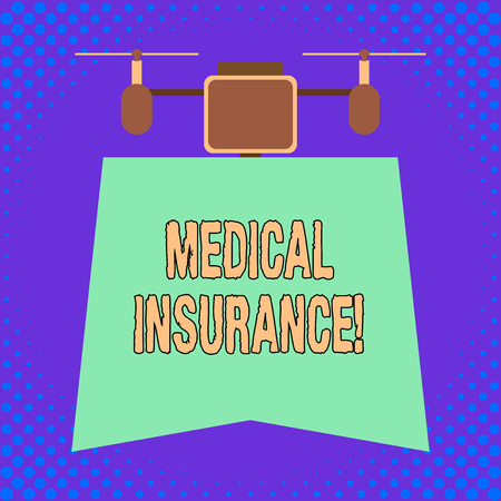 Conceptual hand writing showing Medical Insurance. Concept meaning reimburse the insured for expenses incurred from illness 版權商用圖片