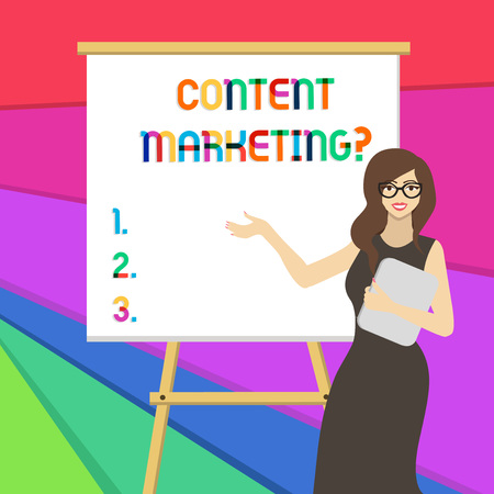 Handwriting text writing Content Marketing question. Conceptual photo involves creation and sharing of online material