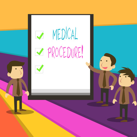 Word writing text Medical Procedure. Business photo showcasing a procedure employed by medical or dental practitioners