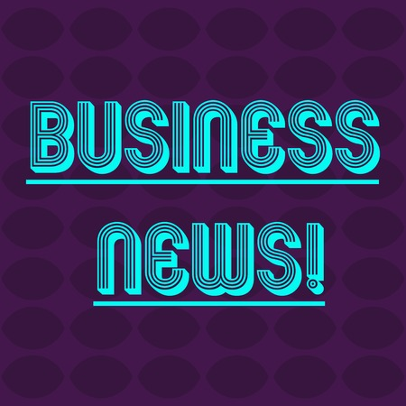 Text sign showing Business News. Business photo text information reported in a newspaper or news magazine Oval Geometric Shape in Rows and Columns in Violet Monochrome Round Pattern Imagens