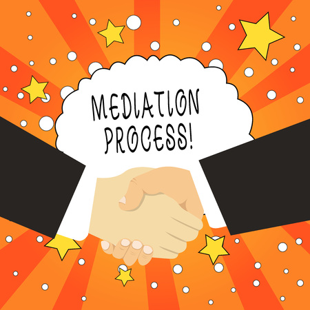 Word writing text Mediation Process. Business photo showcasing informal and flexible dispute resolution process