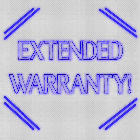 Word writing text Extended Warranty. Business photo showcasing contract which gives a prolonged warranty to consumers Seamless Endless Infinite Tiny Gray Dots Points Pattern Filling Up the Space