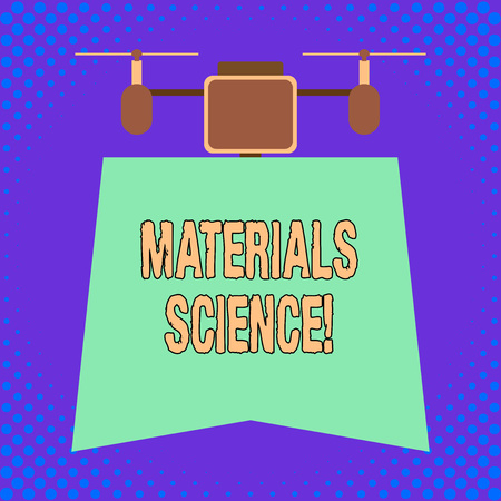 Conceptual hand writing showing Materials Science. Concept meaning interdisciplinary field involving the properties of matter