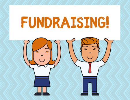 Writing note showing Fundraising. Business concept for seeking to generate financial support for charity or cause