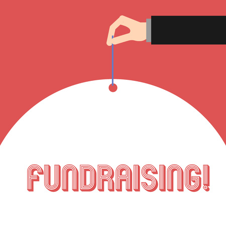 Handwriting text Fundraising. Conceptual photo seeking to generate financial support for charity or cause