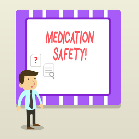 Handwriting text Medication Safety. Conceptual photo freedom from preventable harm with medication use 免版税图像