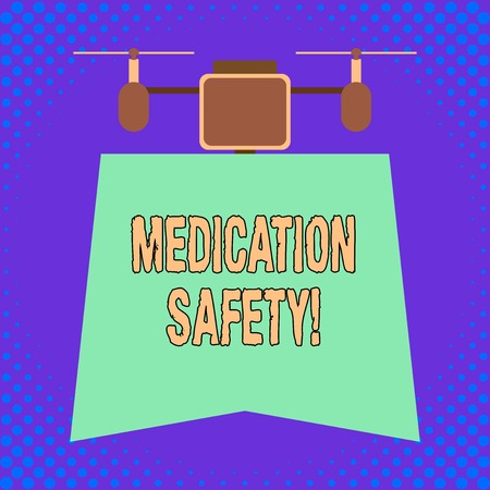Conceptual hand writing showing Medication Safety. Concept meaning freedom from preventable harm with medication use 版權商用圖片