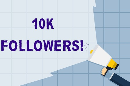 Conceptual hand writing showing 10K Followers. Stock Photo