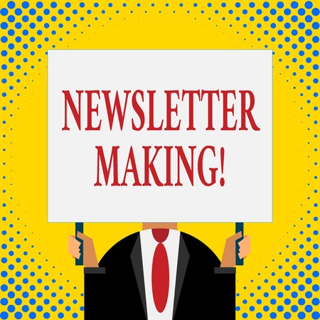 Word writing text Newsletter Making. Business photo showcasing printed report containing news or activities of a business