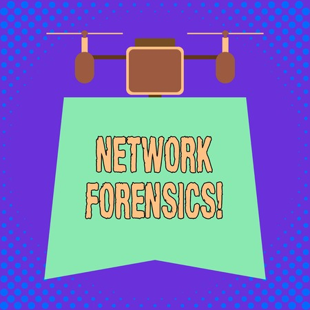 Conceptual hand writing showing Network Forensics. Concept meaning monitoring and analysis of computer network traffic