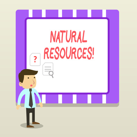Handwriting text Natural Resources. Conceptual photo materials that occur in nature and used for economic gain Stock Photo