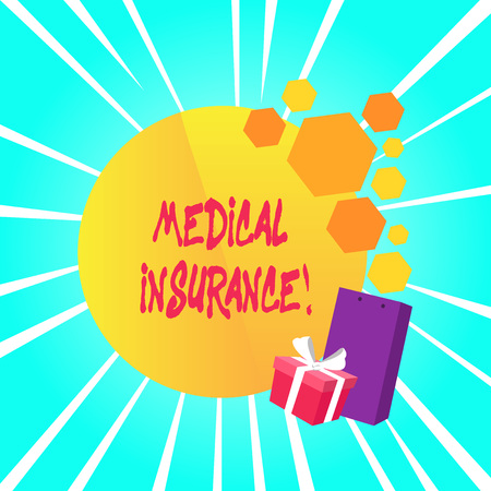 Text sign showing Medical Insurance. Business photo showcasing reimburse the insured for expenses incurred from illness