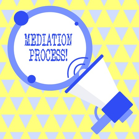 Text sign showing Mediation Process. Business photo text informal and flexible dispute resolution process 写真素材