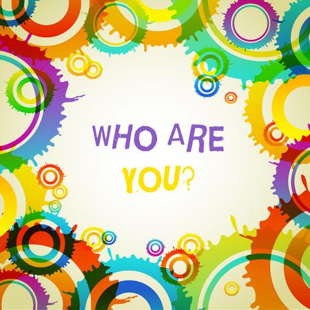Wort schreiben Text wer bist du Frage. Geschäftsfoto, das nach dem Nachweis der Identität oder nach Informationen fragt