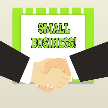 Handwriting text Small Business. Conceptual photo privately owned corporations that has less employees Stockfoto