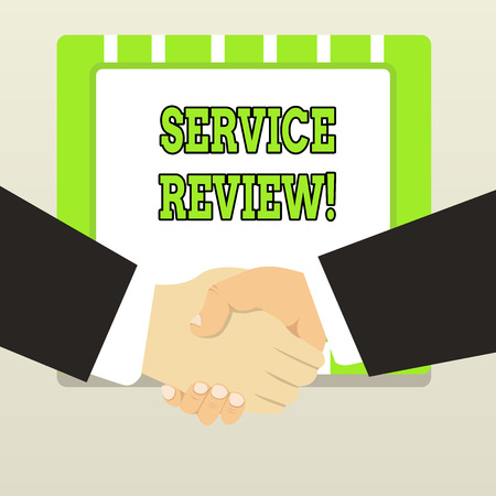Handwriting text Service Review. Conceptual photo an option for customers to rate a company s is service 스톡 콘텐츠
