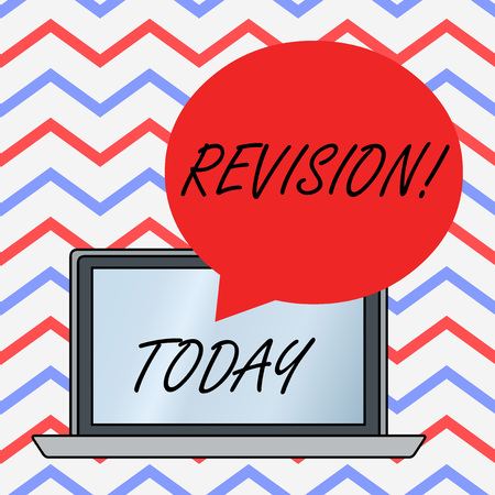 Text sign showing Revision. Business photo text action of revising over someone like auditing or accounting Foto de archivo