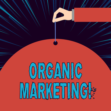 Text sign showing Organic Marketing. Business photo showcasing getting your customers to come to you naturally over time