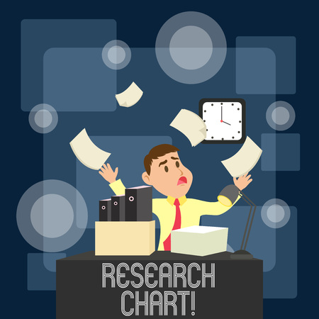 Writing note showing Research Chart. Business concept for it represents a set of numerical or qualitative data Banco de Imagens