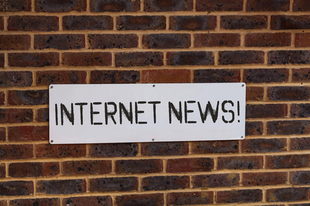 Word writing text Internet News. Business photo showcasing the information about current events published online 版權商用圖片