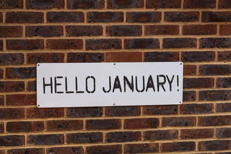 Word writing text Hello January. Business photo showcasing a greeting or warm welcome to the first month of the year