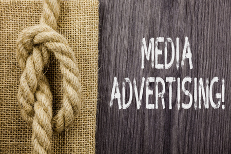Text sign showing Media Advertising. Business photo showcasing choosing the effective media for an advertising campaign