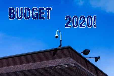 Writing note showing Budget 2020. Business concept for estimate of income and expenditure for next or current year Stock fotó