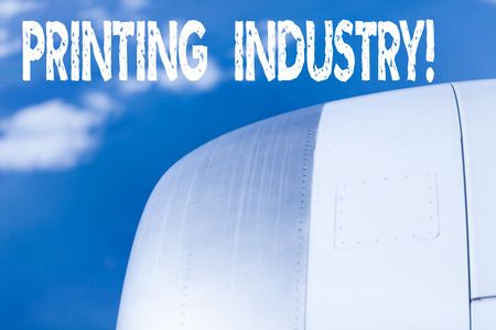 Word writing text Printing Industry. Business photo showcasing industry involved in production of printed matter