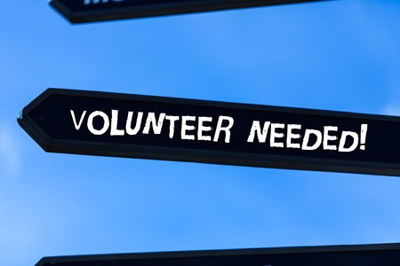 Text sign showing Volunteer Needed. Business photo text need work for organization without being paid Banco de Imagens