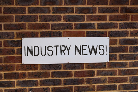 Word writing text Industry News. Business photo showcasing delivering news to the general public or a target public