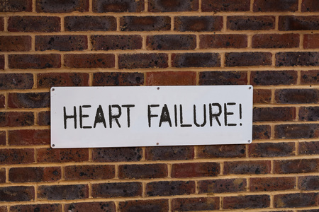 Word writing text Heart Failure. Business photo showcasing the severe failure of the heart to function properly