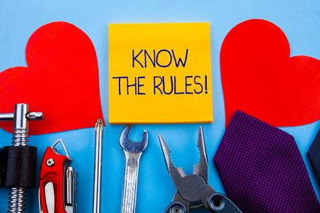 La scrittura della nota mostra conoscere le regole. Il concetto di business per impostare i principi espliciti o regolamentari che disciplinano la condotta