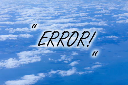 Writing note showing Error. Business concept for state or condition of being wrong in conduct judgement or program Stock Photo