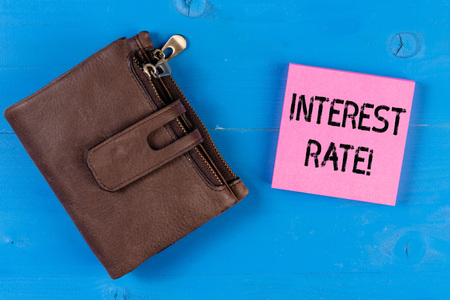 Conceptual hand writing showing Interest Rate. Concept meaning percentage of principal charged by the lender to borrower