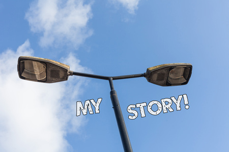 Text sign showing My Story. Business photo text your past life events actions or choices you made 版權商用圖片