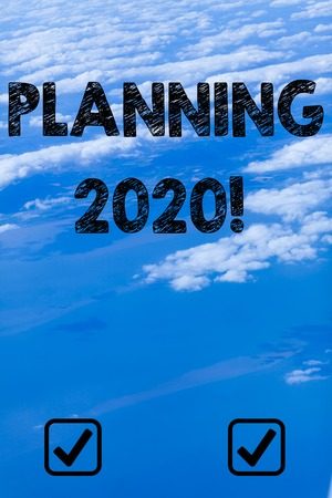 Handwriting text writing Planning 2020. Conceptual photo process of making plans for something next year