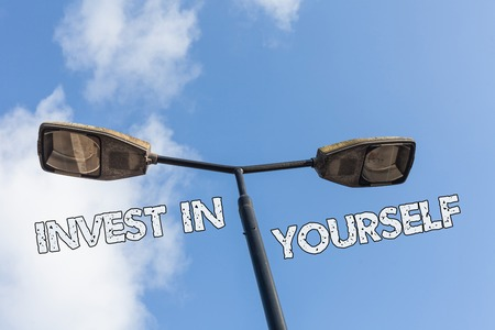 Text sign showing Invest In Yourself. Business photo text learn new things or materials thus making your lot better