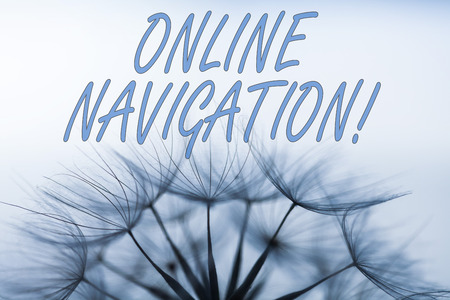 Handwriting text writing Online Navigation. Conceptual photo navigating a network of information resources in the web